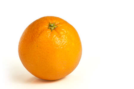orange peel clove: orange is isolated white background Stock Photo