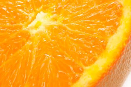 orange is isolated white background Stock Photo