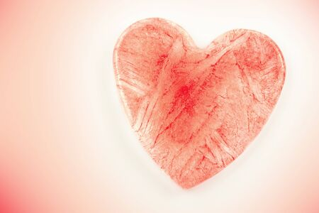 ice red heart shaped Stock Photo