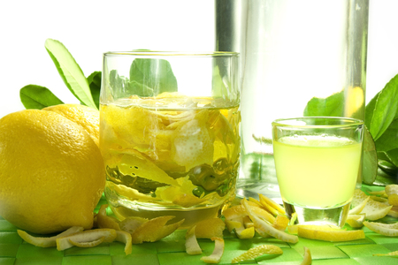 olfactory: alcoholic product made from lemon peel