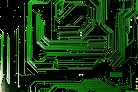 diodes: particular of an electronic board with printed circuits Stock Photo