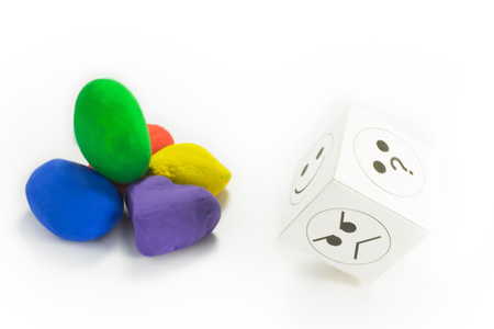 stone of destiny: colored stones with a nut designed with emotions