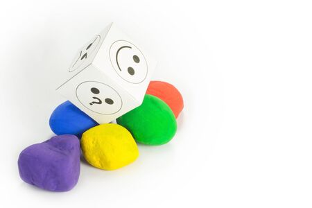 colored stones with a nut designed with emotions