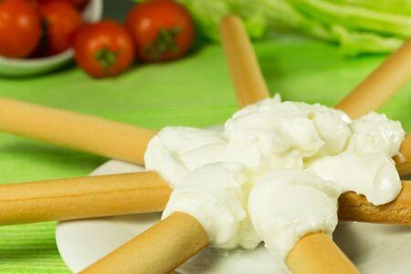 gressins: gressins alimentaires di�t�tiques et du fromage � la cr�me