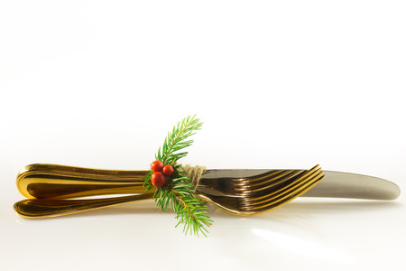 Christmas decorations made with twine pine red berries
