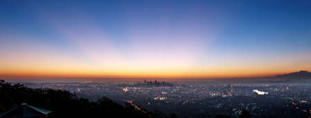Dawn over the city signals a new day Stock Photo - 5372312