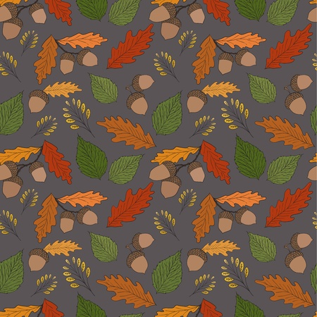 Seamless autumn background Vector