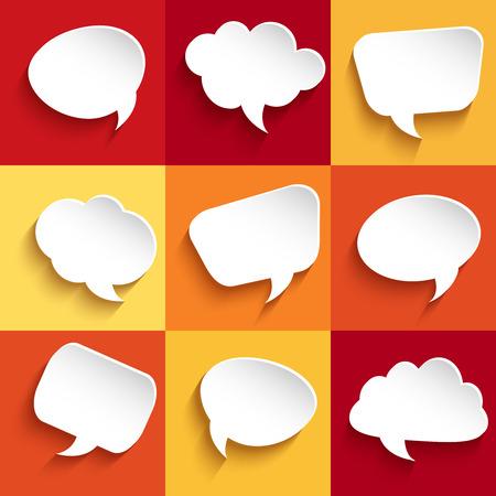 bubble speech: Set of speech bubbles