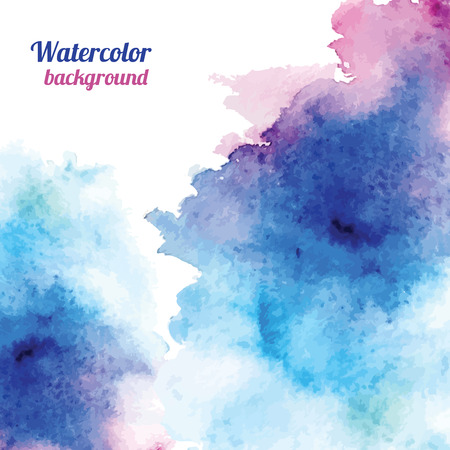 Watercolor background. Vector illustration for your design Vettoriali