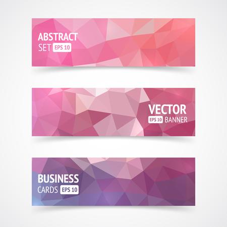 Set van driehoek visitekaartjes. Vector banners