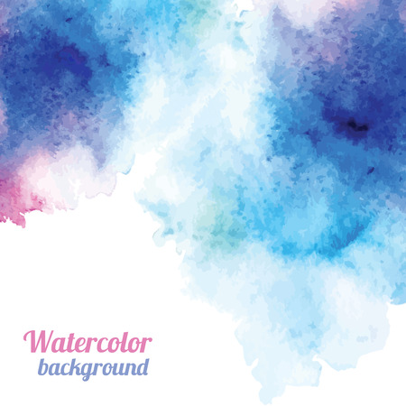 Watercolor background. Vector illustration for your design Çizim