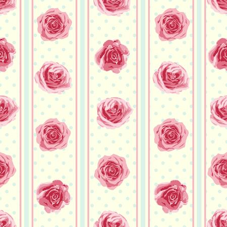 Flower naadloze patroon met rozen. Vector illustratie