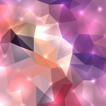 polygonal: Polygonal shine background. Vector illustration for your design Illustration