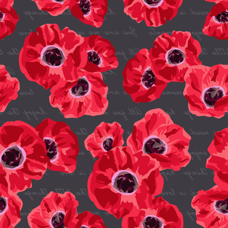 poppies: Seamless vintage pattern with poppies flower