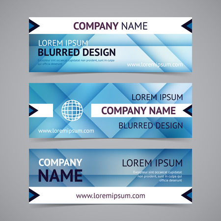 business banner: Vector company banners with blurred backgrounds Illustration