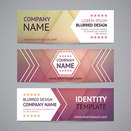 header label: Vector company banners with blurred backgrounds Illustration