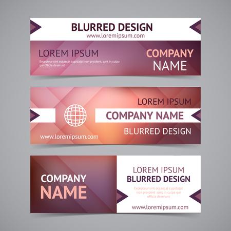 Vector bedrijf banners met onscherpe achtergronden Stock Illustratie