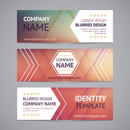 Vector bedrijf banners met onscherpe achtergronden. Identity sjablonen Stock Illustratie