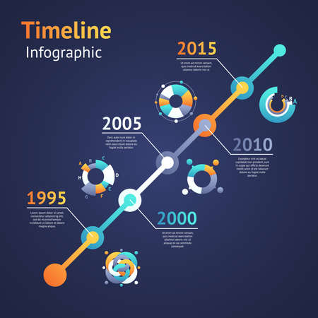 time of the year: Timeline infograhics. Idea to display information with ranking a