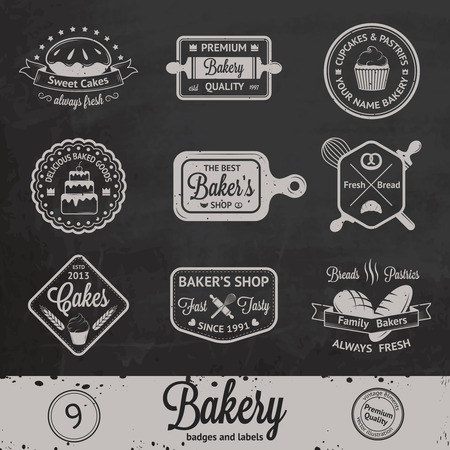 label sticker: Vintage bakery badges, labels and icon