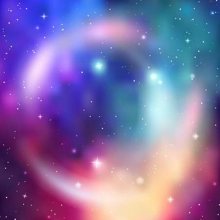 Galaxy background. Abstract colorful vector illustration Illustration