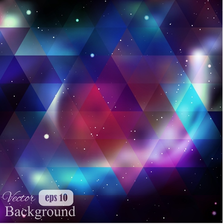 Driehoek achtergrond met galaxy textuur