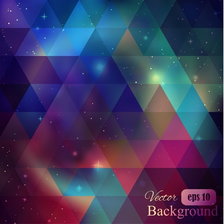 asterism: Triangle background with galaxy