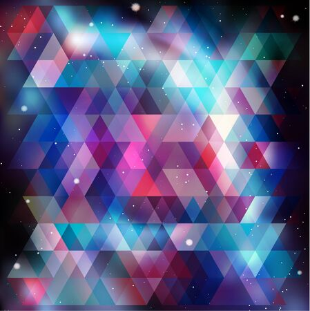 Geometry cosmos background, vector illustration