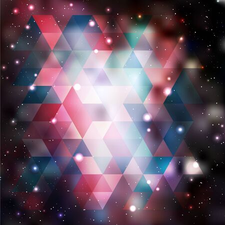 asterism: Triangle background with galaxy texture