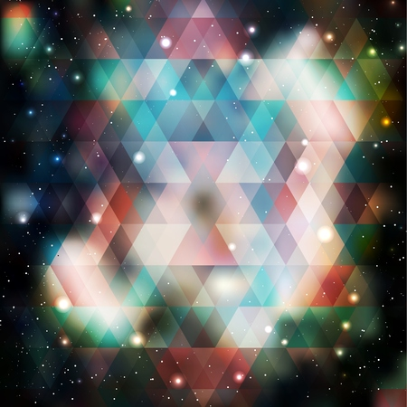 asterism: Galaxy background of triangle shapes