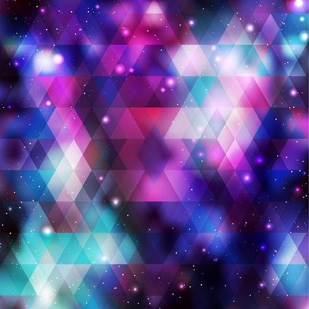 asterism: Galaxy background. Colorful vector illustration