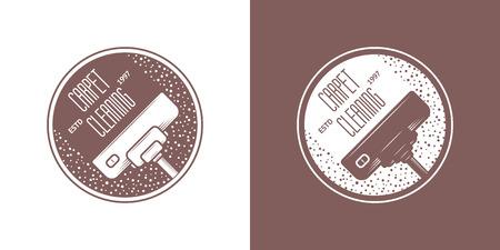 empleadas domesticas: Limpieza iconos Servicio Vector Vintage Vectores