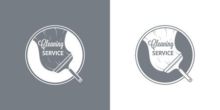servicio domestico: Limpieza iconos Servicio Vector Vintage Vectores