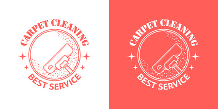 carpet cleaning service: Cleaning Service Vector Vintage icons Illustration