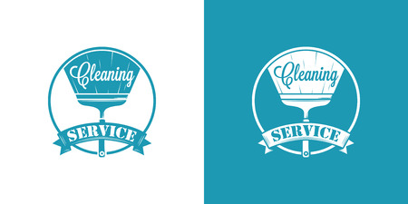 cleaning equipment: Cleaning Service Vector Vintage icons Illustration