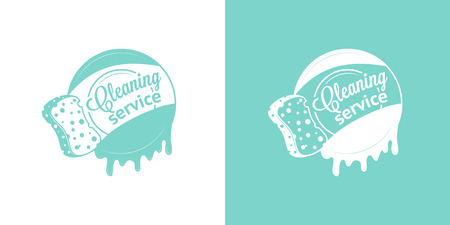 Cleaning Service Vector Vintage pictogrammen Stock Illustratie