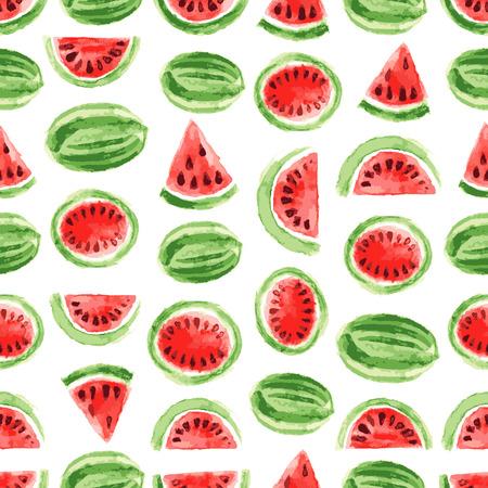 Wasserfarbe auf Wassermelone Muster Standard-Bild - 38885711