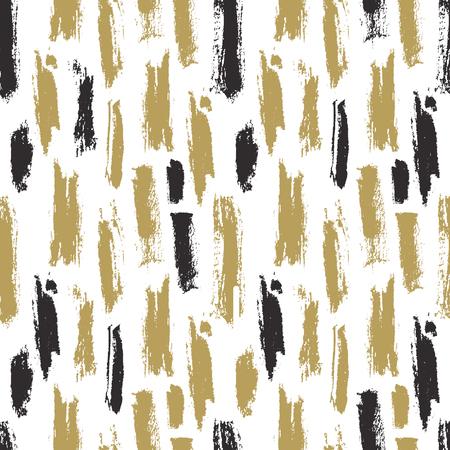 Trendy naadloze patroon met inkt penseelstreken