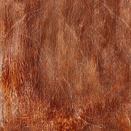Copper brown shiny background texture square orientation. Copper leaf Standard-Bild