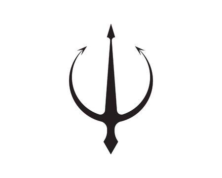 Magic trident logo and symbols template vector Ilustração