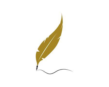 feather logo vector icon template