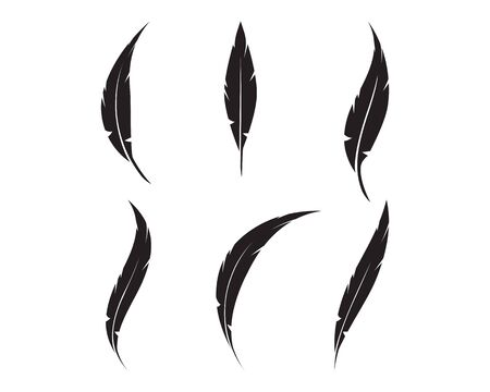 feather logo vector icon template Standard-Bild - 129143576