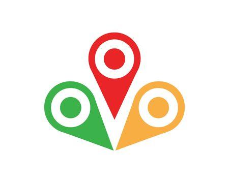 Location point Logo template vector icon illustration design Logo