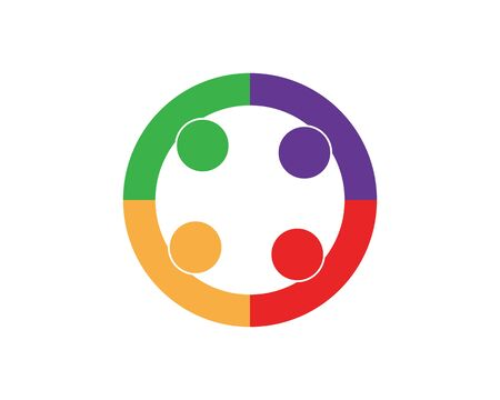 Collection Of People Icons In Circle - Vector Concept Engagement, Togetherness