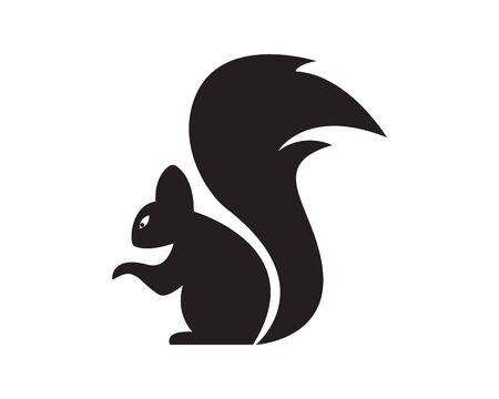 Squirrel logo template illustration design