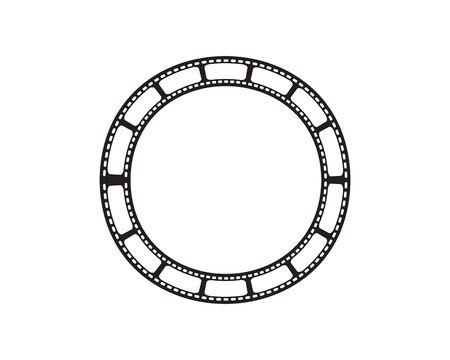 film strip logo vector illusttration