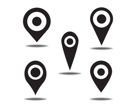 Location point Logo template vector icon illustration design