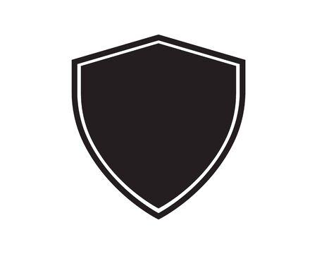 Diseño de ilustración de icono de vector de plantilla de logotipo de escudo