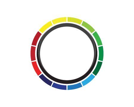 vortex circle logo and symbols template icons app Zdjęcie Seryjne - 128973637