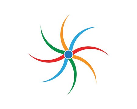 vortex circle logo and symbols template icons app Zdjęcie Seryjne - 128973627